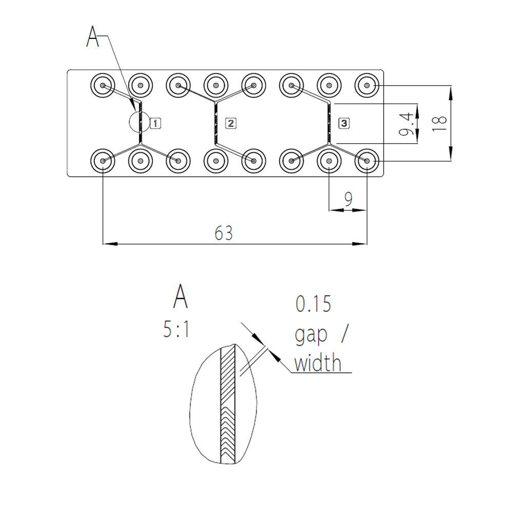 人字形混合器塑料芯片