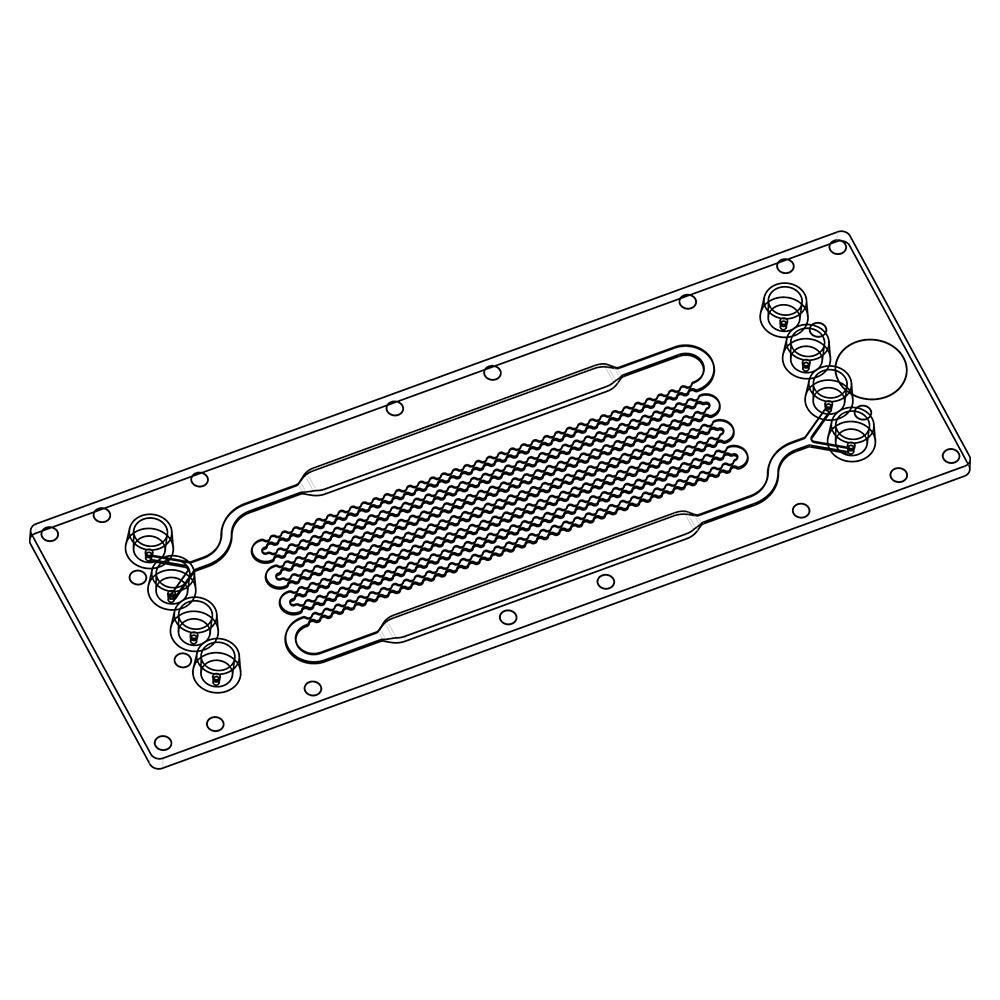 珍珠链状结构混合器塑料芯片