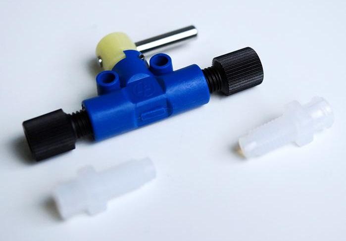 手动微流体样品注射/截止阀/进样接头