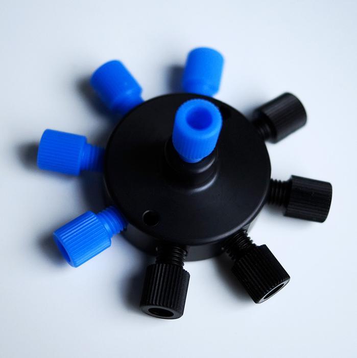 微流体歧管9端口套装(液体和气体的分配或合并)